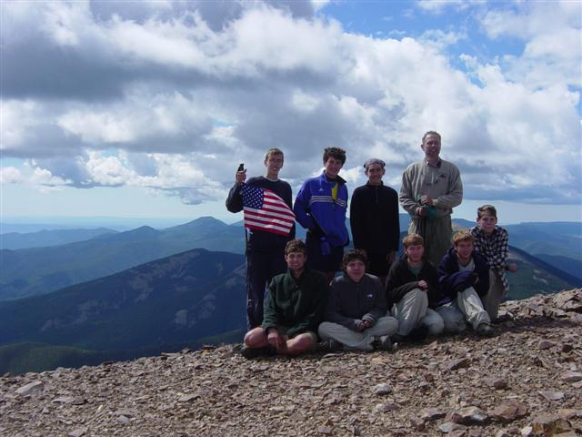 Expedition 719-D1 atop Baldy Mountain, the highest in Philmont